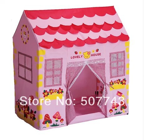 2015 Fashion strawberry Pink Baby Children kids Tent Toys Play House Princess style Playing Game House, - Yiwu Department Boutique Store store