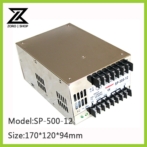 500W 12V 41.6A LED Light Devices Switching Power Supply AC-DC PSU 100/110/220/230V SP-500-12<br><br>Aliexpress