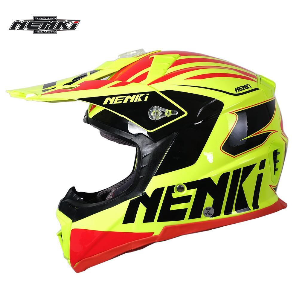 NENKI Motocross Helmet ATV Dirt Bike Off Road Rally Racing Capacete Casco Casque Kask MX316N Fiberglass ECE Motorcycle Helmet