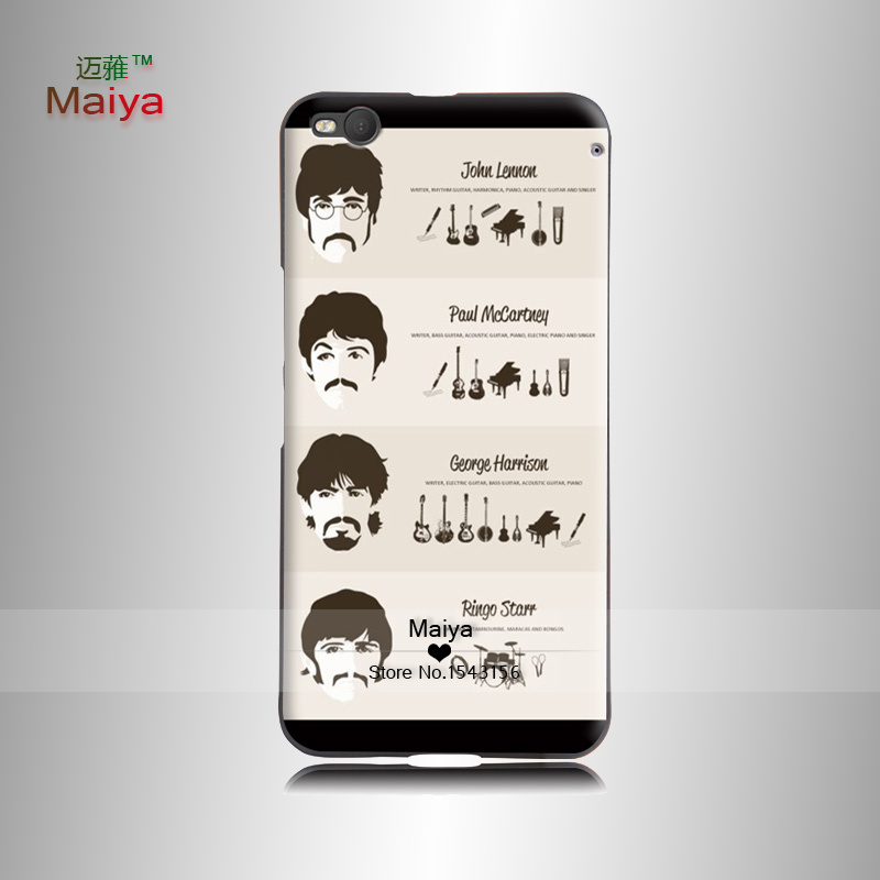 The Beatles and their instruments Painted PhOne HOusing Back Shell FOr Htc OneX9 Case COver(China (Mainland))