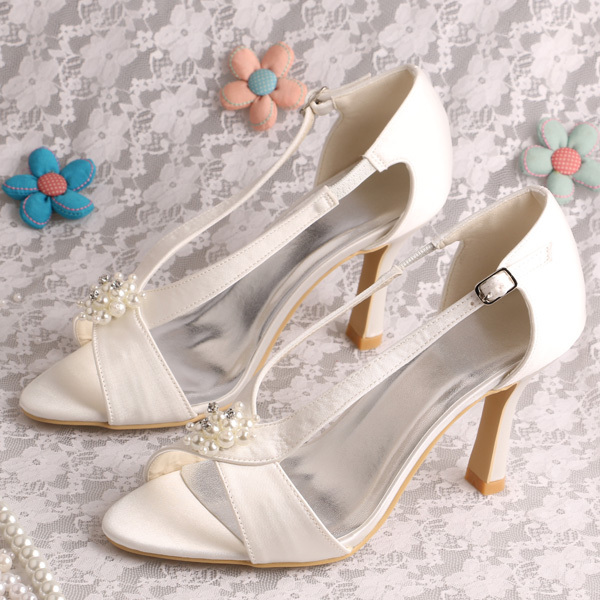 Magic Bride Brand Name Free Shipping Discount Beige Ladies Shoes and Sandals High Heels(China (Mainland))