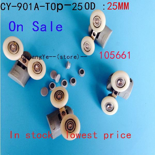 2 x TwinTop Nylon Douche Deurrollers Lopers Wielen CY-902A Uitverkoop(China (Mainland))