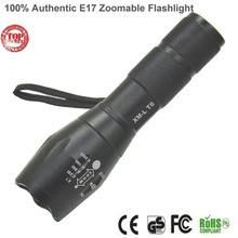 E17 Flashlight 18650 ZOOM LED Torch Flashlights 5 Mode CREE XML T6 3800LM Aluminum Adjustable Flash Light By 3x AAA(China (Mainland))