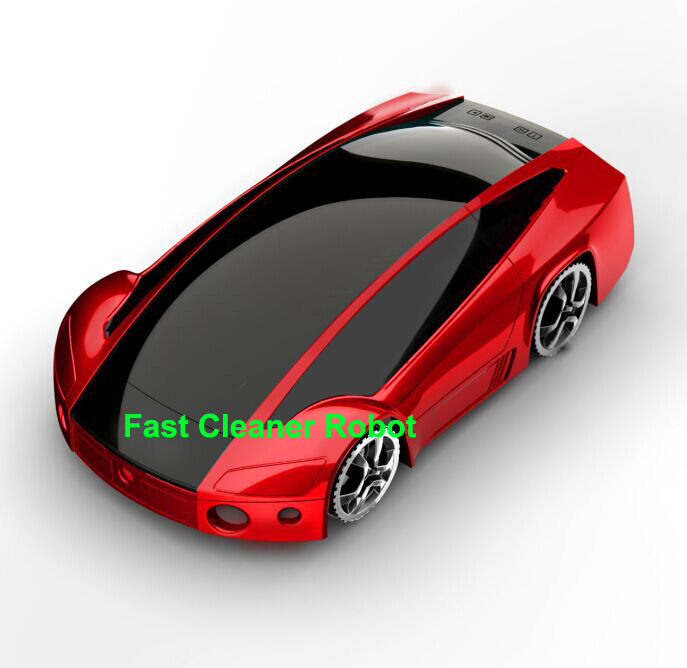 Free Shipping 2016 Newest Super Sports Car Design Automatic Intelligent Vacuum Cleaner With Handheld Vacuum Cleaner Double Use(China (Mainland))