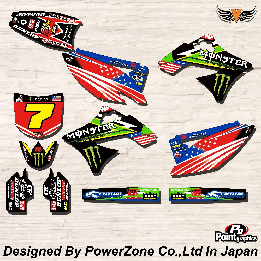 Top Quality Team Graphics &amp; Backgrounds Decals Stickers MST Kits for KAWASAKI KXF250 06-08 09-12 KXF450 06-08 Free Shpping<br><br>Aliexpress