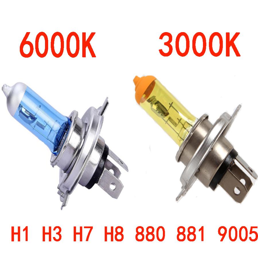 Car Halogen Bulb Light Fog Light Lamp H1 H3 H4 H7 H8 880 881 9005 9006 H11 DC 12V 100W Yellow / Spuer White Bulbs car