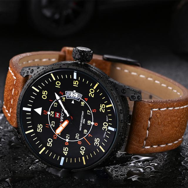 Zegarek męski NAVIFORCE luksusowy ciekawy design różne kolory