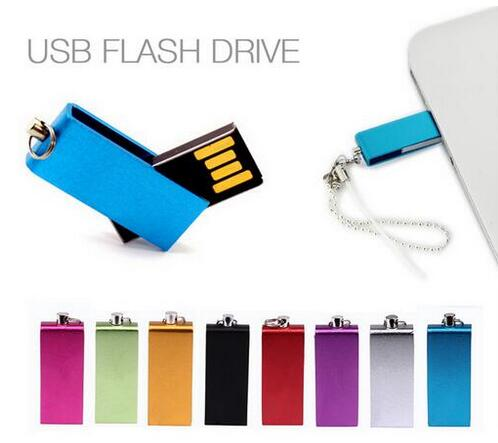 HOT rotatable metal pen drive 32/64/128/256/512GB usb flash drive real capacity memory stick u disk with chain gift Storage unit(China (Mainland))