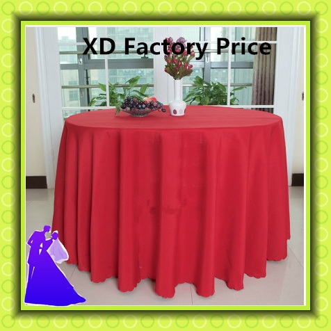 """Factory price free shipping polyester table cloth for wedding decoration 108"""" 10pcs/lot(China (Mainland))"""