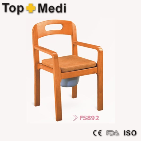 Luxury wooden commode chair with promotional price fs892 on aliexpress