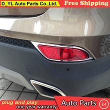 Buy Chrome Rear bumper fog lamp cover Trim 2013 2014 2015 Hyundai Santa Fe IX45 high chrome stickers trim car styling for $19.08 in AliExpress store