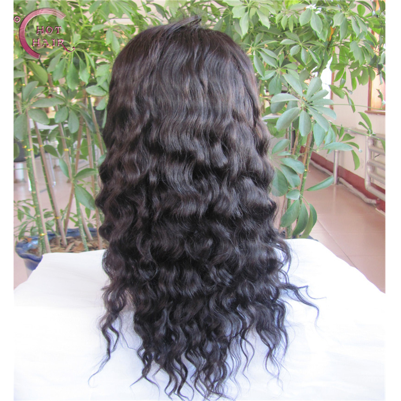Indian Virgin Hair Body Wave Full Lace Human Hair Wigs For Black Women Indian Lace Front Wigs Glueless Full Lace Wig(China (Mainland))
