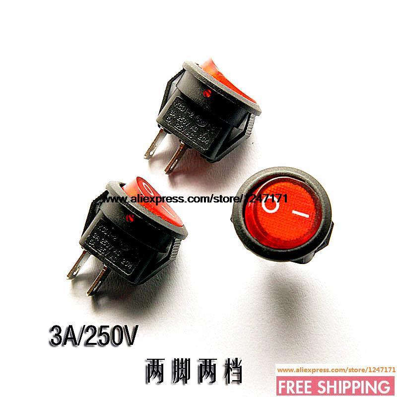 Кулисный переключатель 2PIN 2 3 250 6A 125V 10pieces