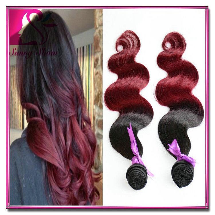 Cheap Ombre Peruvian Hair Weave Bundles 1bburgundy Dark Red Ombre