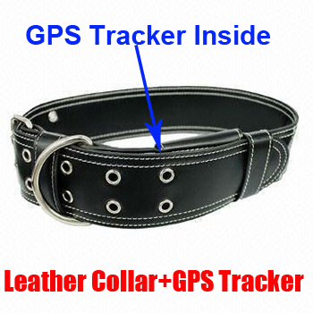 Hidden pet gps tracker Real Time GSM/GPS GPRS Dog High Quality Leather Collar Tracker for Pets hidden Pet GPS tracker(China (Mainland))