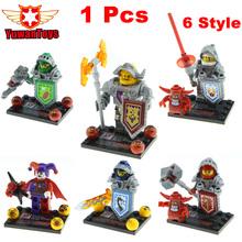1 Pcs Knights Building Block Minifigures Axl Clay Macy Lance Aaron Jestro Figures Kids Gift Compatible Nexus Legoelieds DG884(China (Mainland))