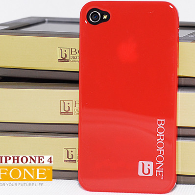 Original borofone brand smooth Piano paint back cover phone case for iphone 4 4s luxury Mobile Phone case send screen protector(China (Mainland))