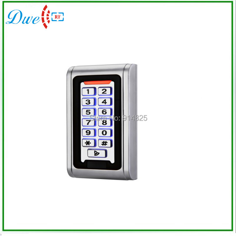 EM-ID 125khz Metal Support 2000 Users Case 9-28V Waterproof IP68 Offline Single Door Access System With Backlight Keypad(China (Mainland))