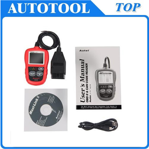 Autel AutoLink AL319 OBDII OBD2 & Can Code Reader Scanner AL319 OBD2 Code Scan Tool Update On Official Website free shipping(China (Mainland))