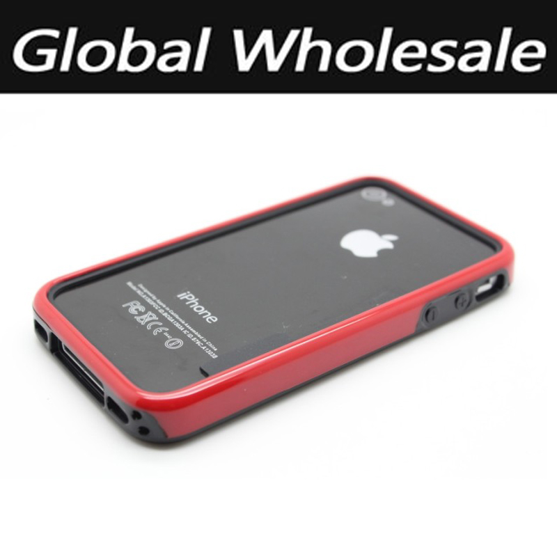 50 pcs/lot 2016 Mobile Accessories Phone Bumper For iPhone 4 4S 4G Silicon Material Shenzhen For Apple 4S Mobile Phone Shell