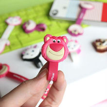 Cute Cartoon red lion Earphone rubber Winder headphone cord cable holder(China (Mainland))