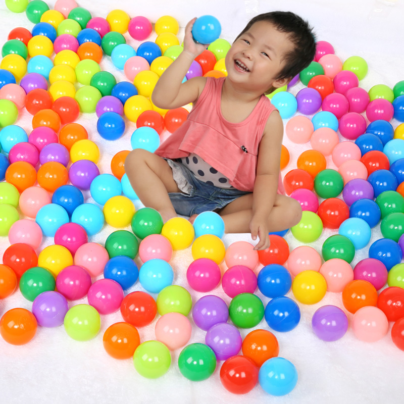 10pcs/lot 5.5cm Eco-Friendly Colorful Soft Plastic Water Pool Ocean Wave Ball Baby Stress Air Ball Outdoor Fun Sports Gifts(China (Mainland))