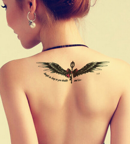 2015 NEW Waterproof One-time Wings of the Angel Tattoo Stickers (210*148mm)(China (Mainland))