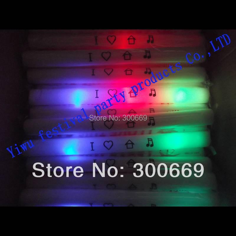 free shipping colorful led foam sitck glow stick customized logo 48*4cm discount(China (Mainland))