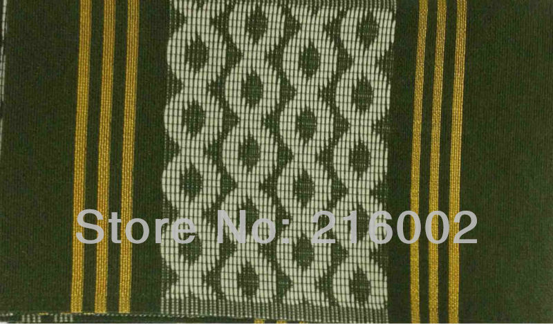 Free shipping, high quality African OSO OKE, headtie fabric, 17.2 meter x 0.17 meter per pc. Nigerial ASO-OKE in GREEN.(China (Mainland))