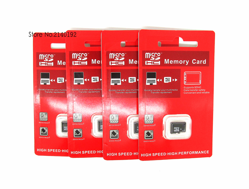 high Quality Black Memory Card 32GB 16GB Class10 8GB 4GB Real Capacity Micro sd card MicroSD TF Card red blister(China (Mainland))