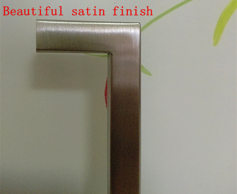 "10*10mm Square door handle Stainless Steel Kitchen Door Cabinet Handle Pull Knob 2″~19.3"" free shipping"