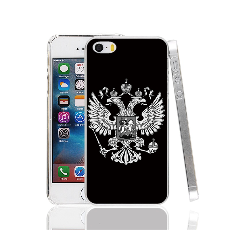 23417 Russian Flag Cover cell phone Case for iPhone 4 4S 5 5S SE 5C 6 6S 7 Plus(China (Mainland))