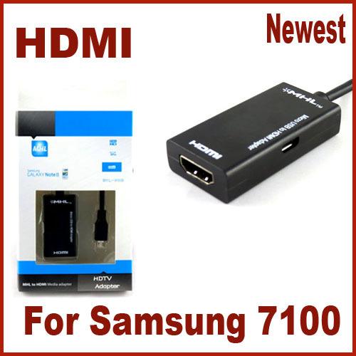 Direct Marketing Mirco USB to HDMI HDTV Adapter for Samsung 7100 Free Drop Shipping(China (Mainland))
