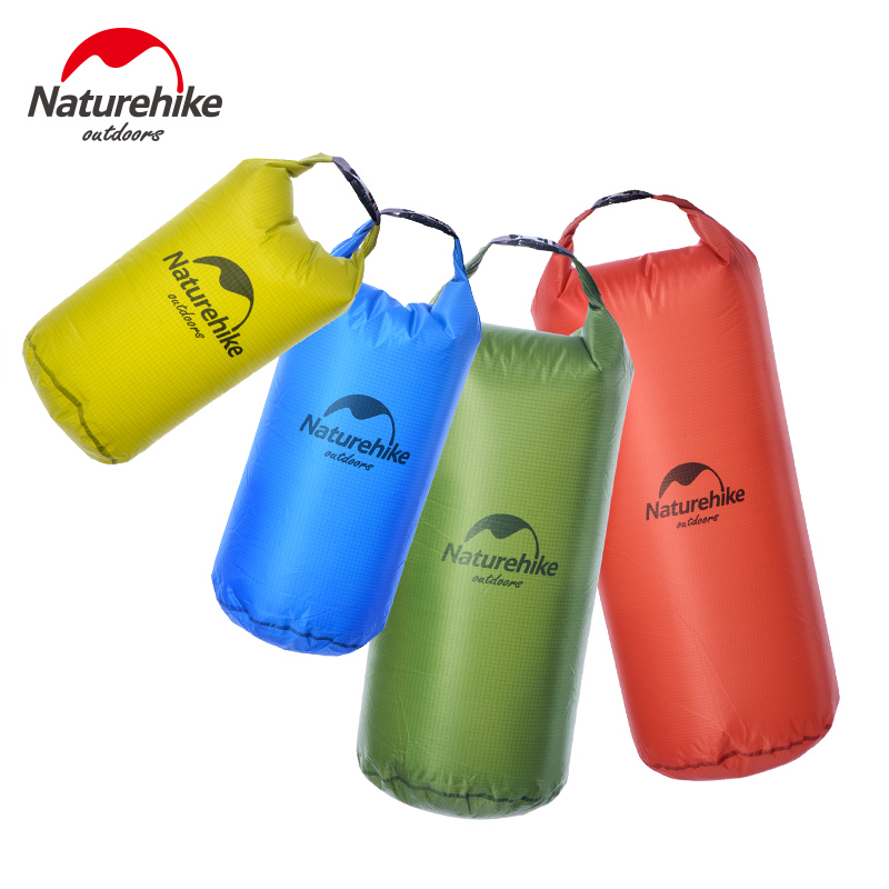 Naturehike Outdoor Men's Travel Bags 40D Nylon Ultralight Waterproof Compression Dry Bag Swimming Rafting Storage Bags 20L 30L(China (Mainland))