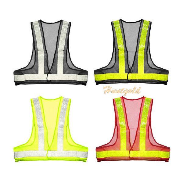 Защитная одежда Brand New Safety Reflective Vest sfvest brand mens reflective safety vest waistcoat hi visibility multi pockets workwear fluorescent yellow orange free shipping