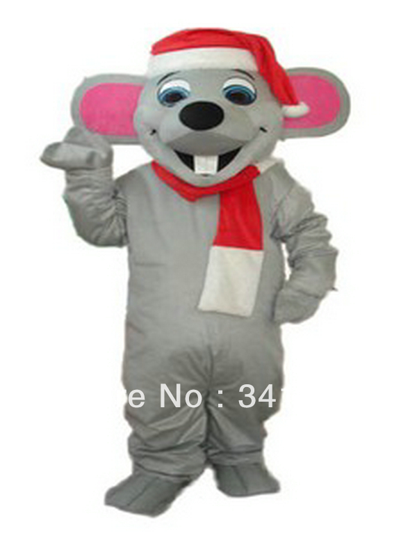High quality CHRISTMAS MOUSE MASCOT COSTUME FURRY Cartoon character mascots Costumes for Christmas Party(China (Mainland))