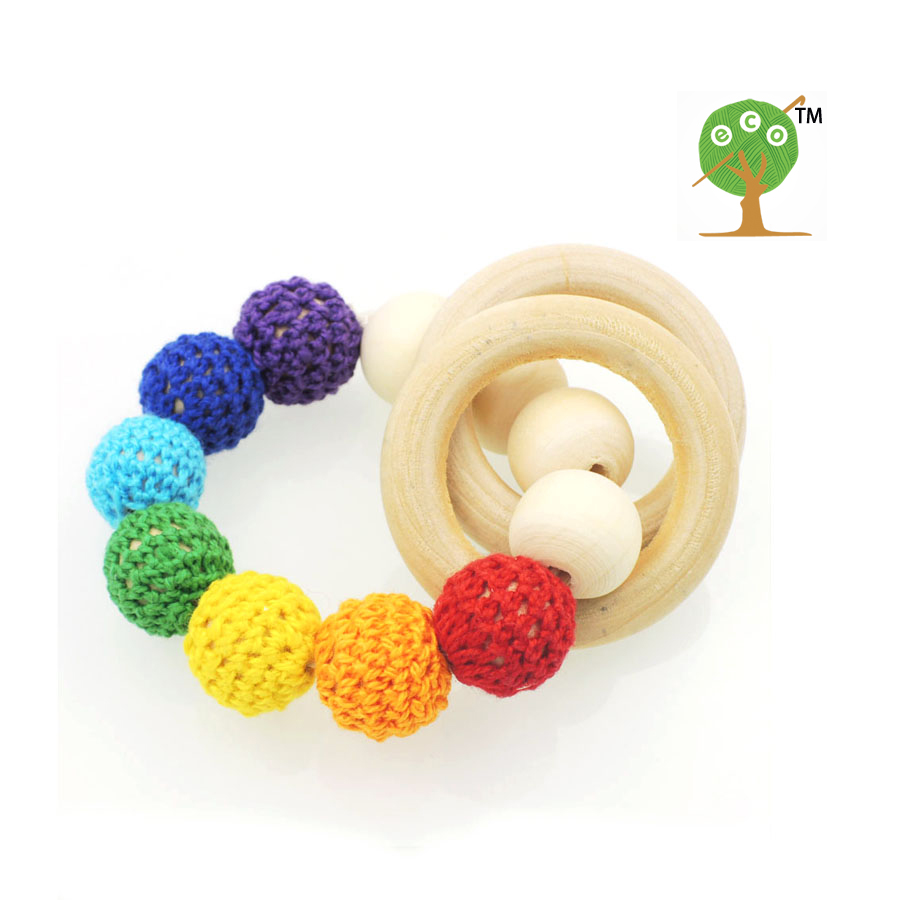 Discount Hot wooden toy Mommy jewelry baby Crochet nursing toy ...