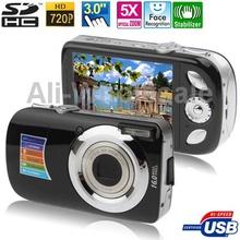 A620 Black, 5.0 Mega Pixels 5X Zoom Digital Camera with 3.0 inch TFT LCD Screen, Support SD Card , Max: 16 Mega pixels