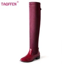 Tamaño 30-49 mujeres botas planas largas color del arco iris de calzado de moda de invierno de arranque largo nieve botas cálidas zapatos P19468(China (Mainland))