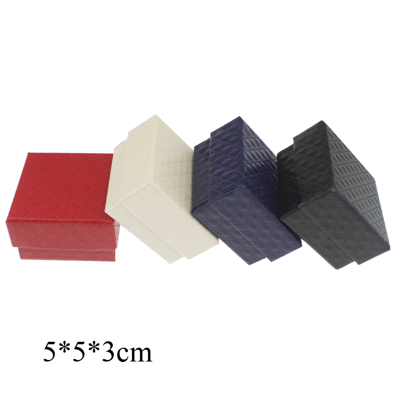 30pieces/lot 4 colors top quality paper box gift box packaging box for ring with size 5*5*3.0cm(China (Mainland))