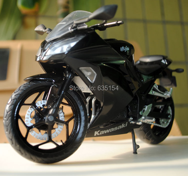2015 Newest 1/12 Scale Diecast Motorcycle Model Toys Kawasaki Ninja Black Cool Metal Motorbike Model Toy For Children/Gift(China (Mainland))