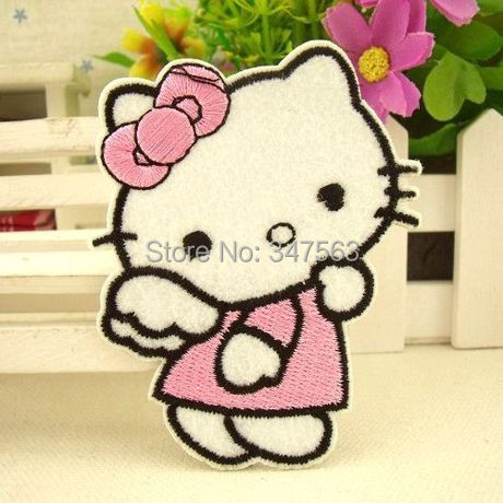 hello kitty patch iron on patches applique children accessories scrapbooking buttons sewing accessories clothing set patch wood