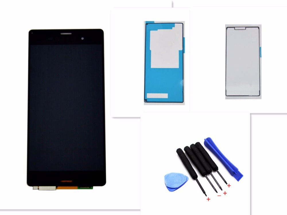 Black LCD Display For Sony Xperia Z3 D6603 D6643 D6653 Touch screen with digitizer + Adhesive Tape + Open Tools , Free shipping