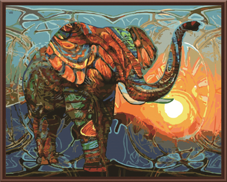 New Frameless Pictures Painting By Numbers DIY Digital Oil Painting On Canvas Home Decor Wall Art Abstract Elephant GX7997(China (Mainland))