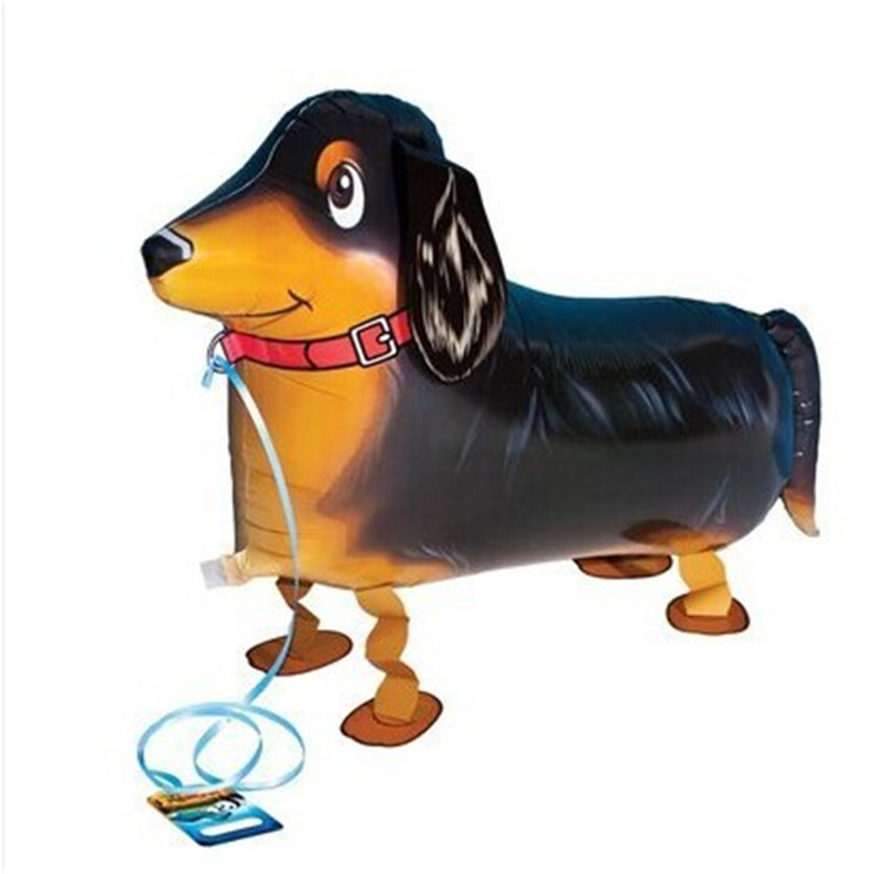 5 pet balloon Dachshund Sausage dog walking Party balloons
