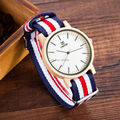 2016 Natural Bamboo Wood Wristwatch Japan quartz movement 2035 Army Nylon Fabric Strap New Fashion Wood