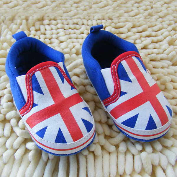 New 0-18M UK Flag Toddler Shoes Soft Sole Crib Baby Shoes Pre walker Sneaker Shoes(China (Mainland))