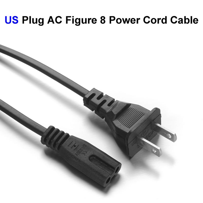US Plug AC Figure 8 Power Cord Cable 1.4m For Battery Charger AC Power Adapter Laptop(China (Mainland))