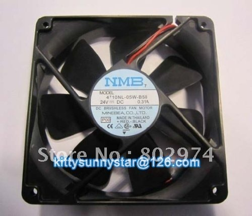 NMB 12025 4710NL-05W-B50 24V 0.31A 2Wire Yaskwa Fan,Server Fan,Inverter Fan, Cooling Fan