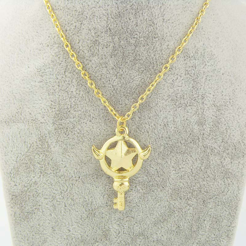 New Anime Cartoon Card Captor Sakura Magic Wand Pendants Necklace Collected Jewelry Cosplay Jewelry Trinket(China (Mainland))